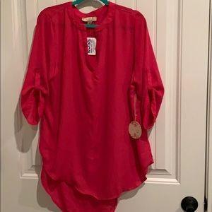 Pink Tunic Plus Size 1X 16/18/20
